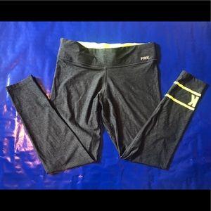 VS PINK Lime Green & Grey Activewear Yoga Pants